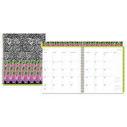 nicole miller wire o weeklymonthly planner 12 month 8 12 x 11 wild