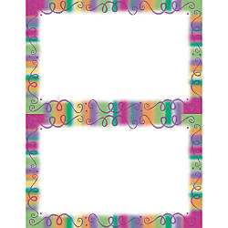 gartner labels templates - gartner studios 2 up invitations 5 12 x 8 12 fiesta border