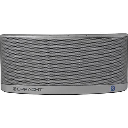 Spracht Blunote2.0 Speaker System - 10 W RMS - Wireless Speaker(s) - Portable - Battery Rechargeable - Silver