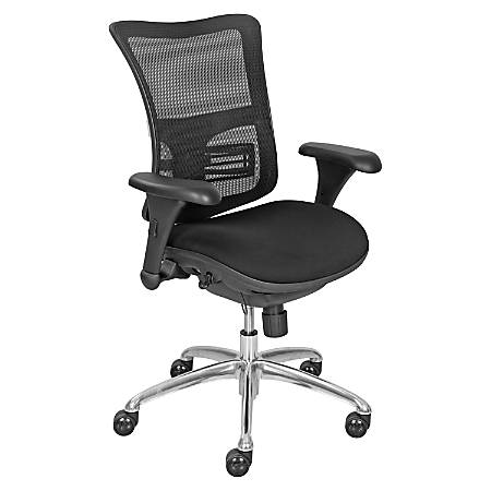 La Z Boy Mid Back Task Chair 41 H X 28 W X 20 1416 D Black Office
