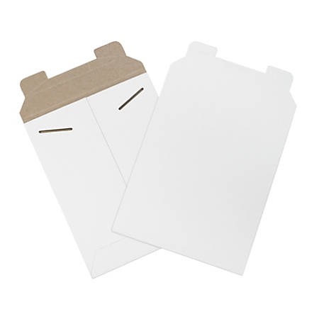 "Office Depot® Brand White Flat Mailers, 7"" x 9"", Box Of 100"