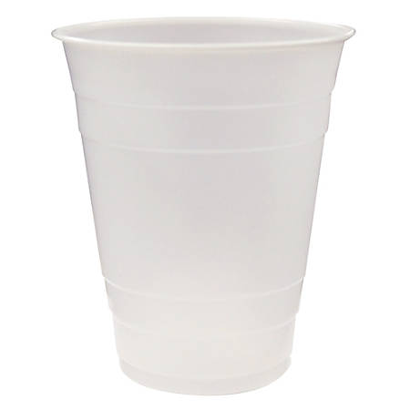Pactiv Translucent Plastic Cups, 16 Oz, Clear, 80 Cups Per Pack, Carton Of 12 Packs