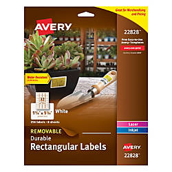 Avery Removable Durable Pricing Labels 22828