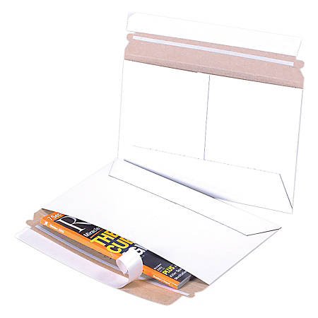 "Office Depot® Brand Flat Side-Loading White Mailers, 9"" x 6"", Pack Of 200"