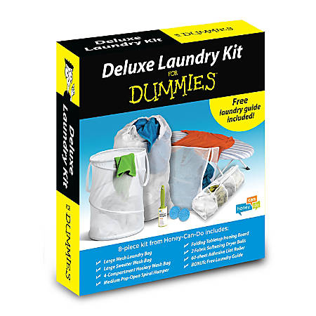 Honey-Can-Do 7-Piece Deluxe Laundry Kit, White