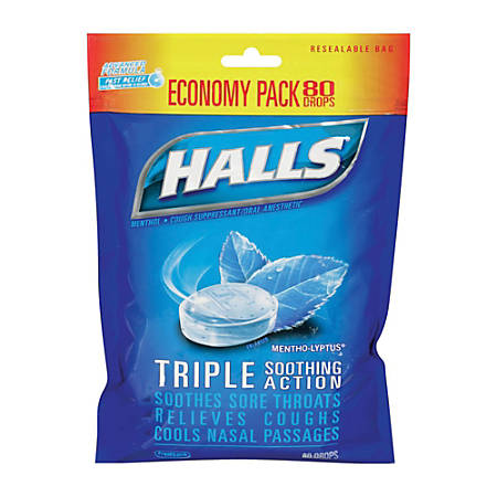 Halls® Mentho-Lyptus Cough Drops, 8.736 Oz.
