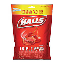Halls Cough Drops Cherry