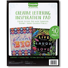 Crayola Creative Lettering Inspiration Pad 40