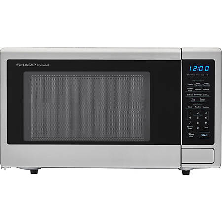 Sharp® Carousel 1.1 Cu Ft Countertop Microwave Oven With Orville Redenbacher's Popcorn Preset, Stainless