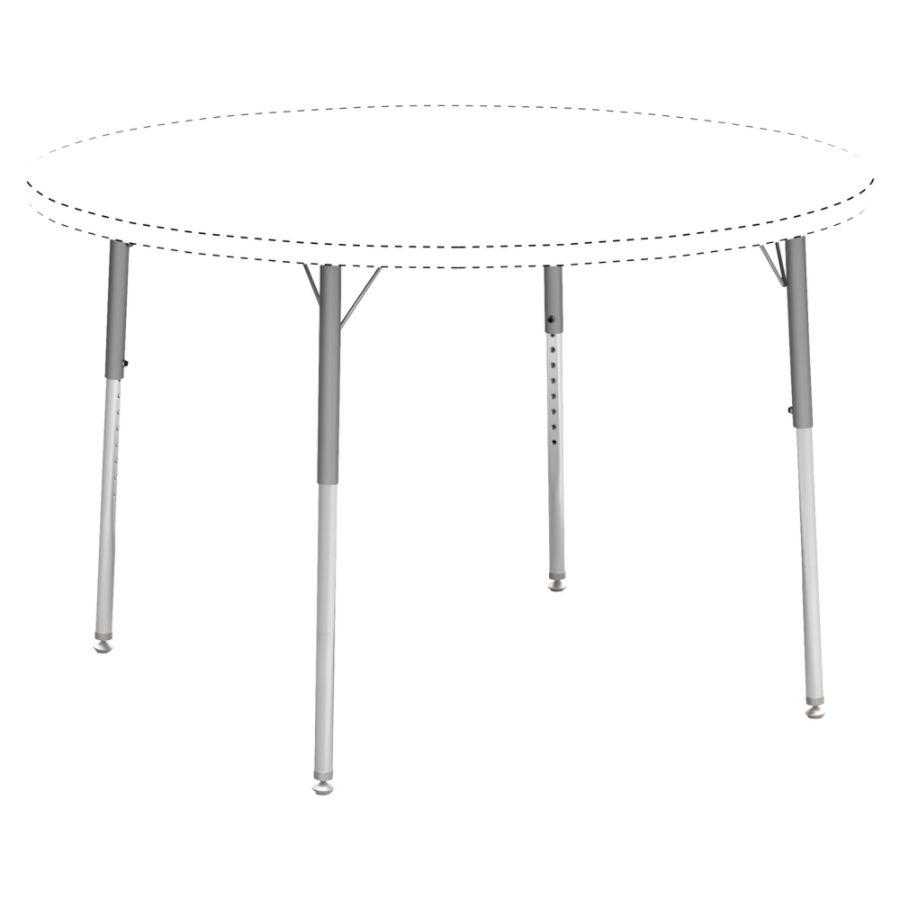 Lorell Classroom Adjustable Activity Table Legs Standard Height