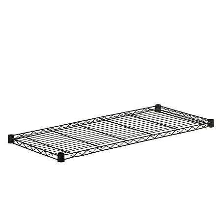 "Honey-Can-Do Powder-Coat Steel Shelf, 350-Lb Capacity, 1""H x 16""W x 36""D, Black"