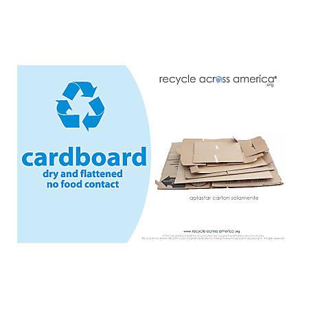 "Recycle Across America Cardboard Standardized Recycling Labels, CARD-5585, 5 1/2"" x 8 1/2"", Light Blue"