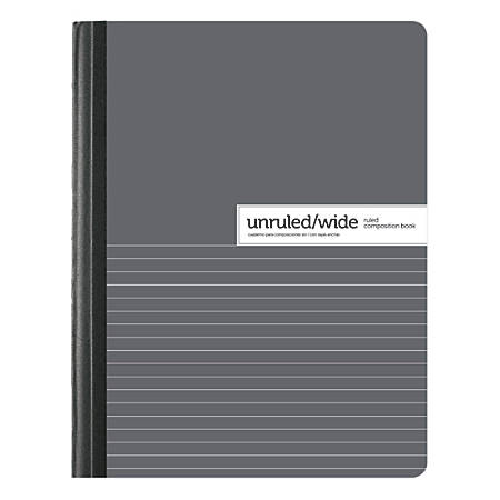 "Office Depot® Brand Dual Ruled Composition Book, 7 1/2"" x 9 3/4"", Unruled/Wide Ruled, 100 Sheets"