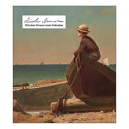 "Retrospect Winslow Homer Monthly Desk Calendar, 6-1/4"" x 5-1/2"", January To December 2020, YCD 050-20"
