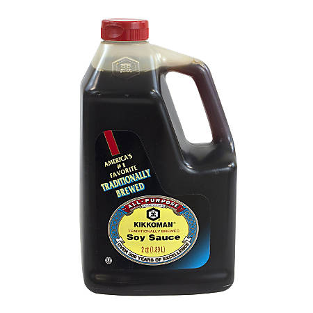 Kikkoman Soy Sauce, 64 Oz Bottle