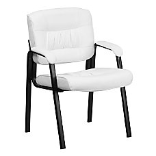 Flash Furniture Leather Side Chair WhiteBlack