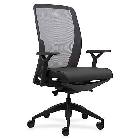 Lorell® Mesh/Fabric High-Back Chair, Black