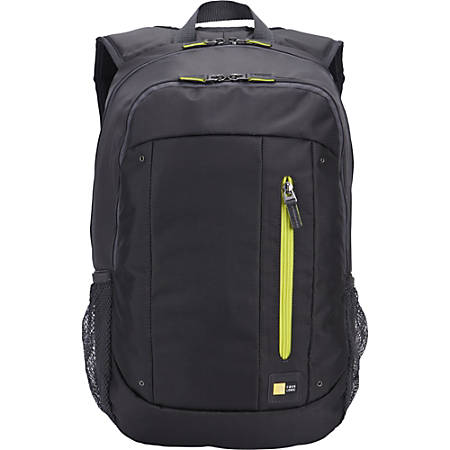 "Case Logic Jaunt WMBP-115 Carrying Case (Backpack) for 15"" to 16"" Notebook - Anthracite - Polyester - Shoulder Strap, Handle - 17.7"" Height x 12.2"" Width x 10.6"" Depth"