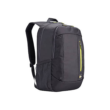 "Case Logic Jaunt WMBP-115 Carrying Case (Backpack) 16"" Notebook - Anthracite - Polyester - Shoulder Strap, Handle - 17.7"" Height x 12.2"" Width x 10.6"" Depth"