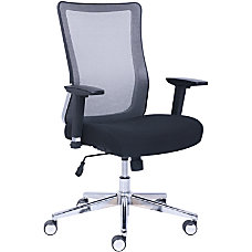 Lorell Mesh Rolling Chair BlackGray