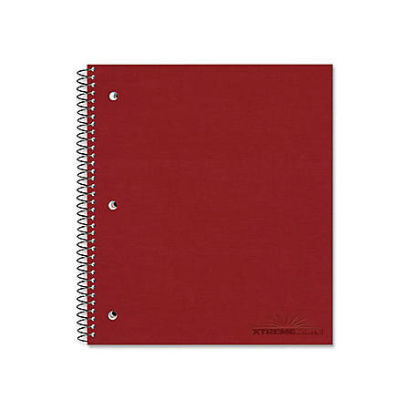"""Rediform Pressguard 1-Subject Cover Notebook - 80 Sheets - Coilock - Ruled - 16 lb Basis Weight - 8 7/8"""" x 11"""" - White Paper - Assorted Cover - Pressboard Cover - Micro Perforated - 1Each"""