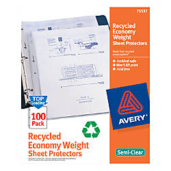 Avery 40percent Recycled Economy Weight Sheet