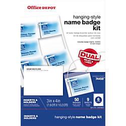 Office Depot Brand Name Badge Kit