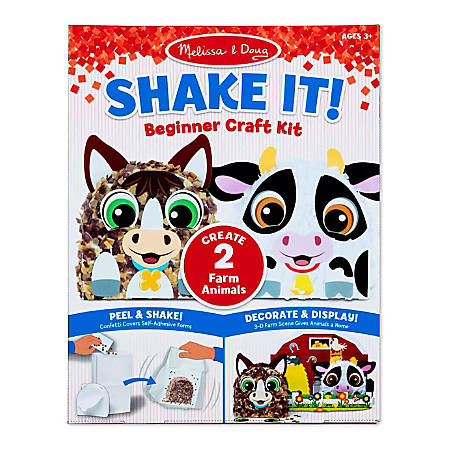 """Melissa & Doug Children's Educational Toys, Farm Shake It! Beginner Craft Kit"""""""