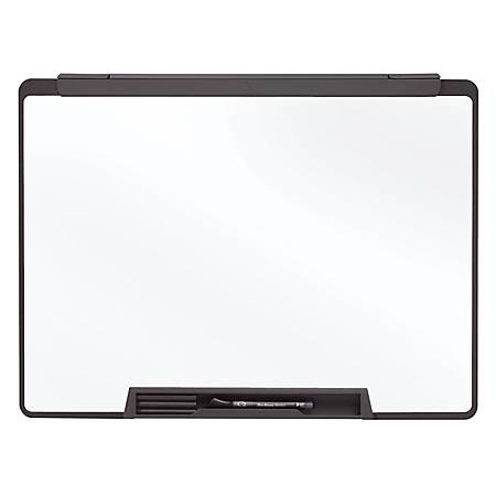 "Quartet® Cubicle Motion Dry-Erase Board, Motion Cubicle, 36"" x 24"", White Board, Black Frame"
