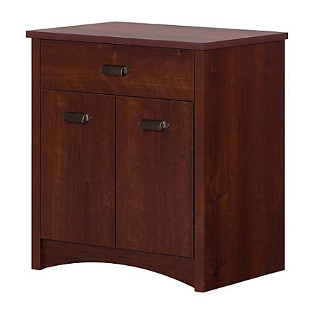 "South Shore Gascony 27""W Printer Cabinet With Drawer, Sumptuous Cherry"