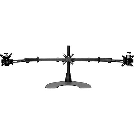 "Ergotech Triple TW LCD Monitor Desk Stand - 16"" pole - Black - Horizontal - Triple w/Telescoping Wings"