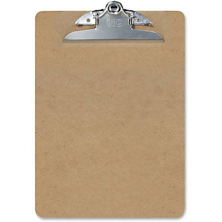 "OIC Letter-size Clipboards - 1"" Clip Capacity - 8 1/2"" x 11"" - Spring Clip - Hardboard - Brown - 3 / Pack"