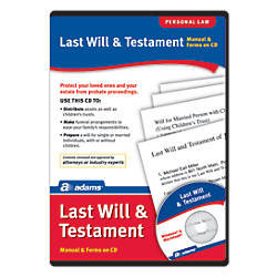 Adams Last Will And Testament For
