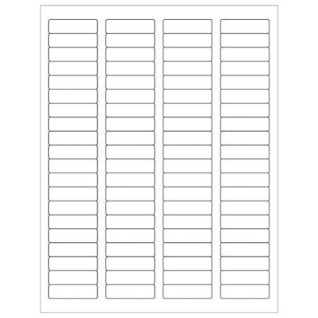 """Office Depot® Brand Weather-Resistant Laser Labels, LL250WR, 1 3/4"""" x 1/2"""", White, Case Of 8,000"""