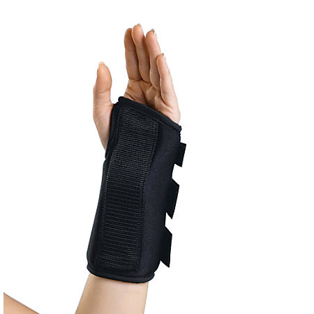 "CURAD® Slip-On Wrist Splint, Left, Medium, 8"", Black"