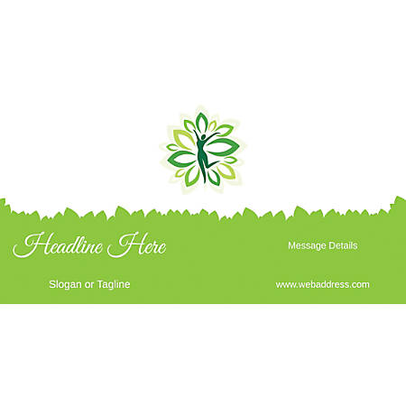 Custom Horizontal Banner, Green Spa