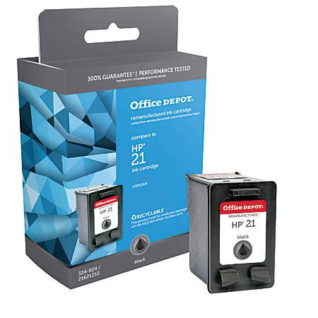 Office Depot® Brand 221 (HP 21) Remanufactured Black Ink Cartridge