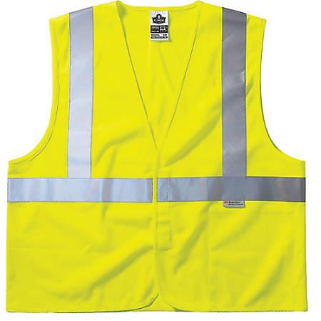 GloWear 8255HL Class 2 Vests, L/XL, Lime