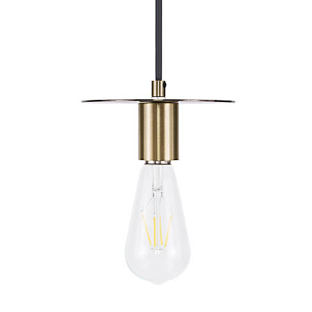 Southern Enterprises Selden Hanging Mini Pendant Lamp, Antique Bronze
