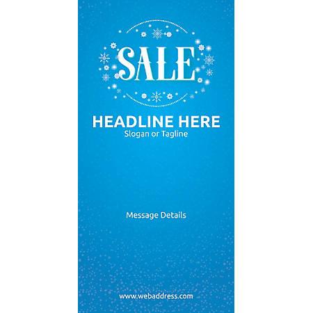 Custom Vertical Display Banner, Sale Snowflakes