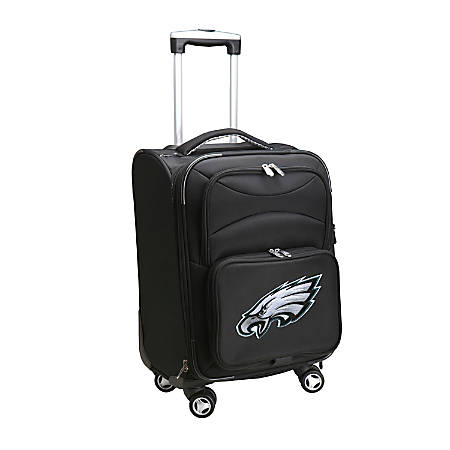 """Denco ABS Upright Rolling Carry-On Luggage, 21""""H x 13""""W x 9""""D, Philadelphia Eagles, Black"""