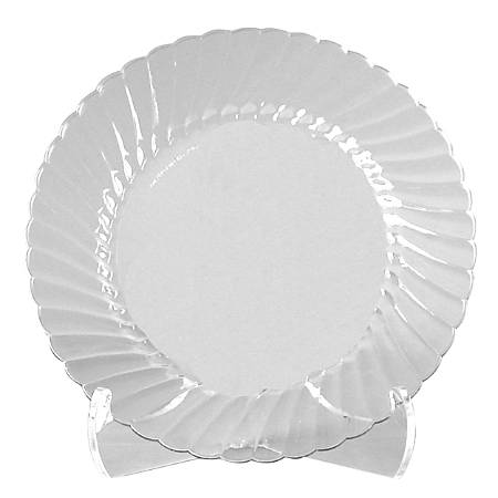 """Classicware® Clear Plastic Plates, 9"""", Pack Of 180"""