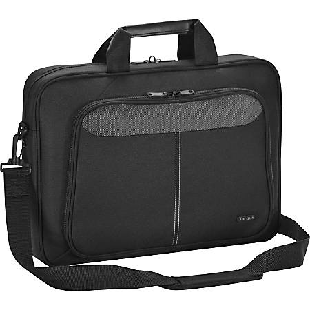 "Targus Intellect TBT240US Carrying Case (Sleeve) for 15.6"" Notebook - Black - Nylon - Shoulder Strap - 14.3"" Height x 15.8"" Width x 3.8"" Depth"