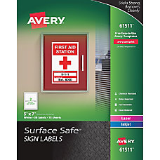 Avery Surface Safe Sign Labels 7