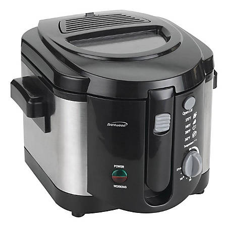 Brentwood 2.0-L Deep Fryer, Black/Stainless Steel