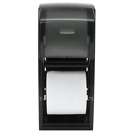 Kimberly Clark® Coreless Double Roll Bathroom Tissue Dispenser, Smoke Gray