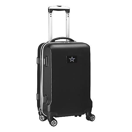 "Denco 2-In-1 Hard Case Rolling Carry-On Luggage, 21""H x 13""W x 9""D, Dallas Cowboys, Black"
