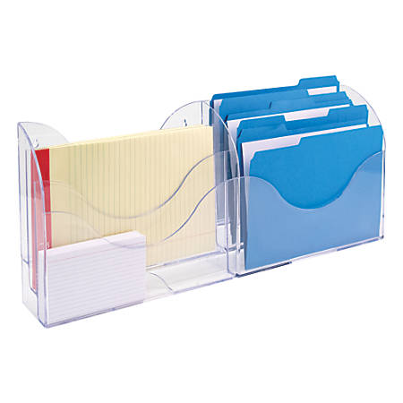 Innovative Storage Designs 6-Pocket File Organizer, Clear