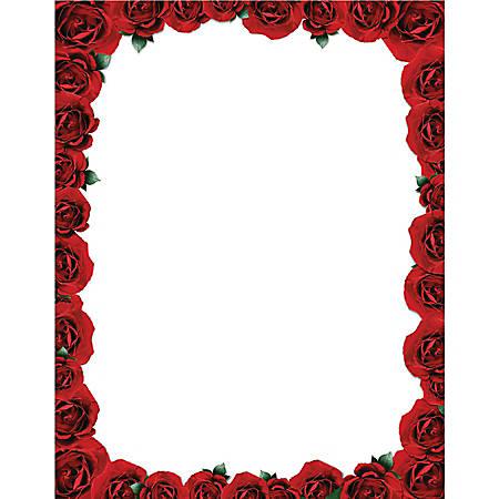 "Gartner™ Studios Design Paper, 8 1/2"" x 11"", Roses Are Red, Pack Of 100"