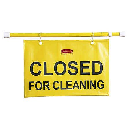 "Rubbermaid® ""Closed For Cleaning"" Hanging Safety Sign"